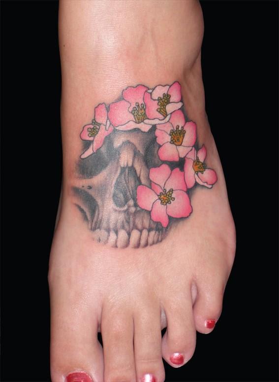 Flower Skull Tattoo Flowers Healthy