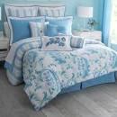 Light Blue Damask Stripe 4 Piece Duvet Comforter Set#8 Blue ...