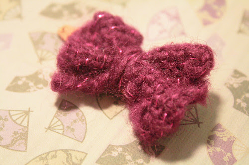 Sparkly pink bow