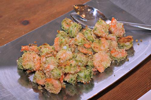spinach basil pesto baked shrimp