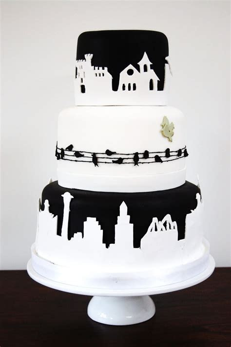iced: Kitt and Marco's Silhouette Wedding Cake   18th June