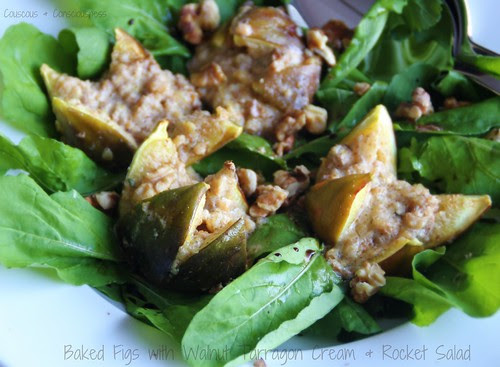 Baked Figs with Walnut Tarragon Cream 4