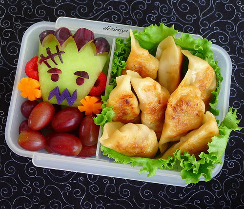 Gyoza and Frankenstein Bento by sherimiya ♥