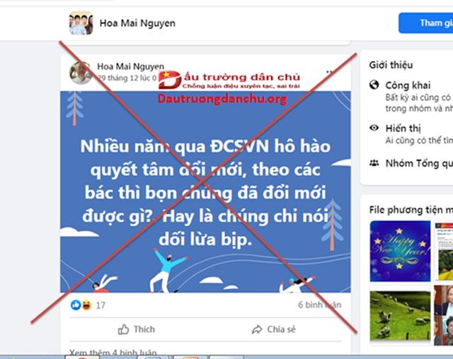 Hoa Mai Nguyen-kẻ hoang tưởng về công tác nhân sự Đại hội XIII của Đảng