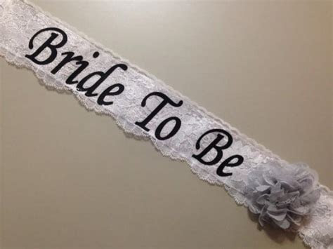 Lace Bachelorette Sash   Lace Bridal Shower Sash ***Design
