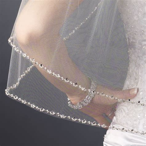 Double Layer Elbow Length Pearl Rhinestone Bugle Beaded
