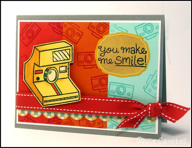 JULIE You Make Me Smile Polaroid