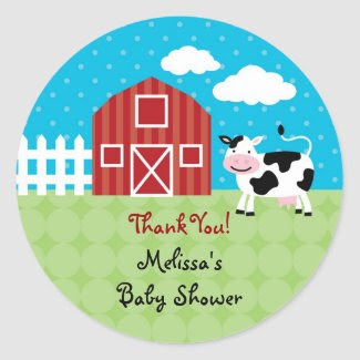 Barn Animals Favor Sticker sticker