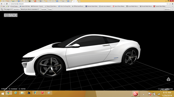 imagem modelo de impressão 3D Acura NSX