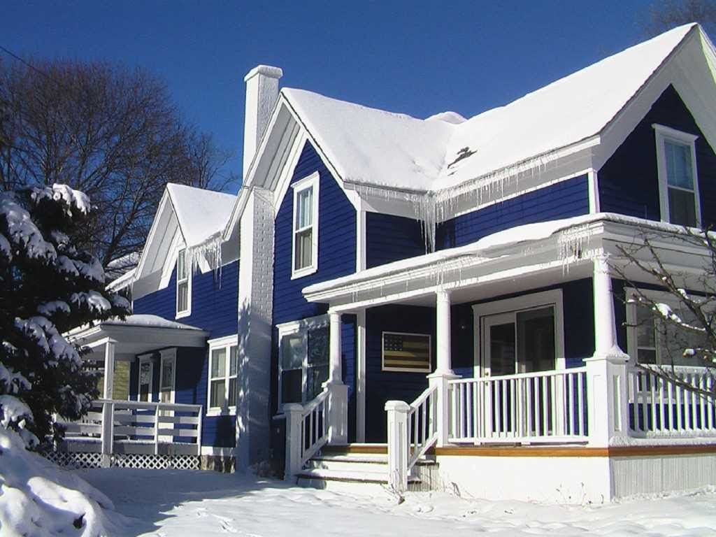 Warna Cat Rumah Bagian Luar Yang Bagus Trend 2017 Putih Salju