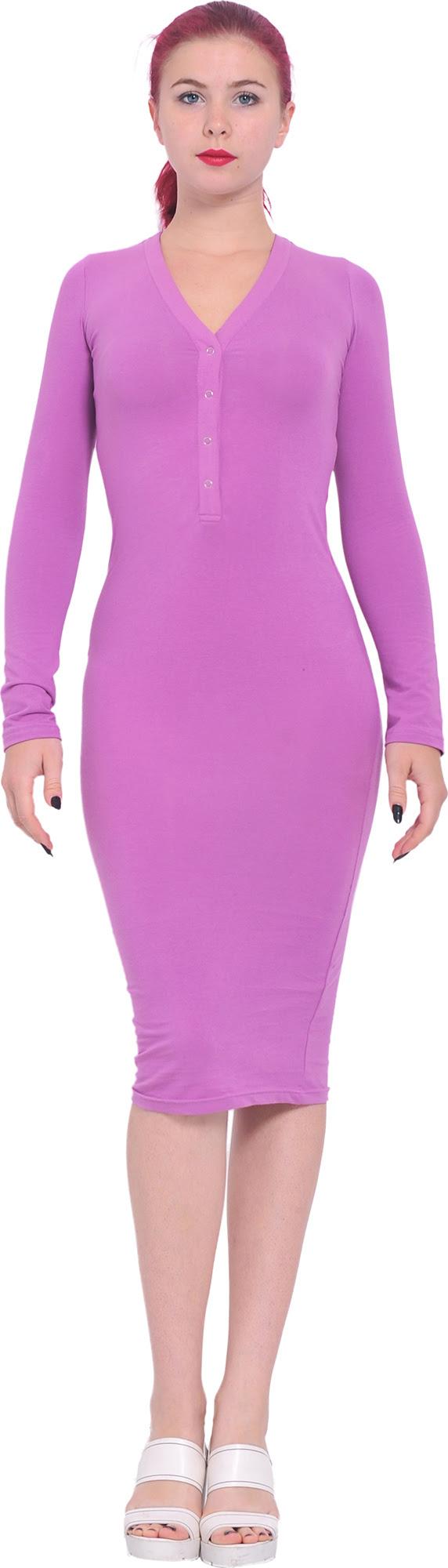 Knee bodycon length long sleeve dress retailers usa with