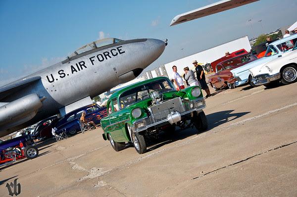 Butch and his 56 at the Stray Kat Starliner at the Kansas Aviation Museum