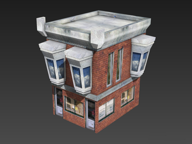 Low Poly House 3d Model 3ds Maxobject Files Free Download