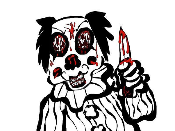 killer clown zeichnen  ausmalbilder