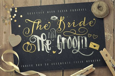 Just Married! Wedding Pack ~ Display Fonts on Creative Market
