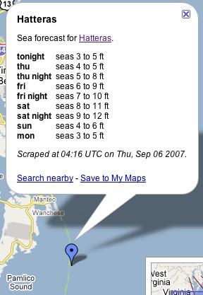 North Carolina Seas - Google Maps