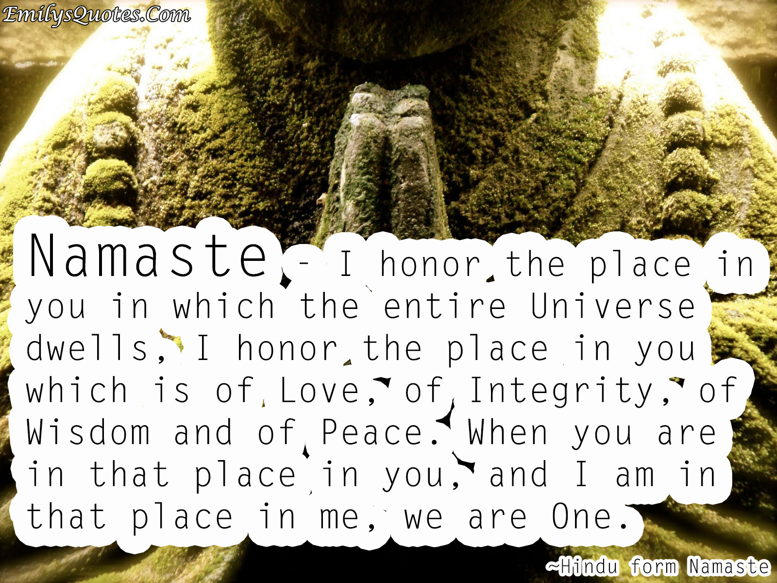 Hindu Form Namaste Popular Inspirational Quotes At Emilysquotes