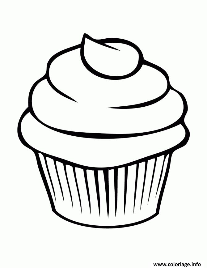 Coloriage Cupcake Simple Facile Jecoloriecom