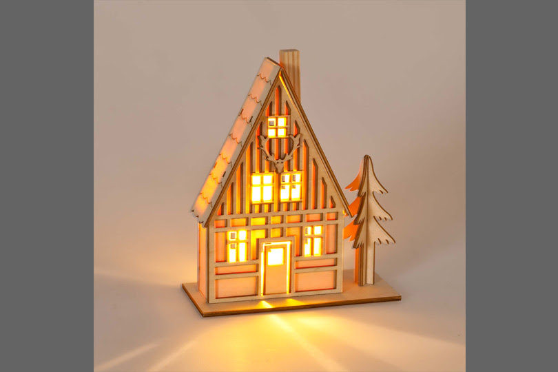 christmas light up house
