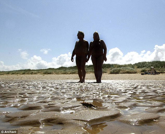 Partial lifting: The ban on nudism in the dunes, which are owned and managed by Holkham Estate, and on all land above mean high water, will still be enforced