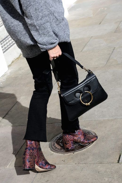 Le Fashion Blog Blogger Style Black Jeans Velvet Heeled Boots Via Fashion Me Now