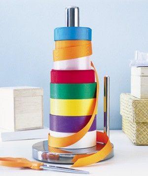 paper towel holder for ribbon
