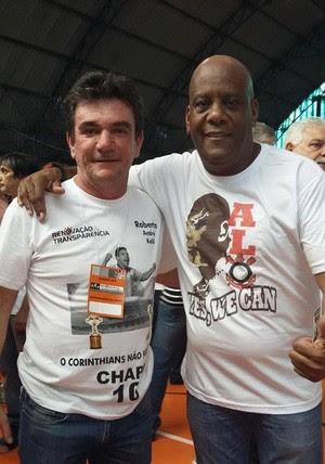 Andrés Sanchez e André Luiz OIiveira (Foto: Reprodução/Facebook)