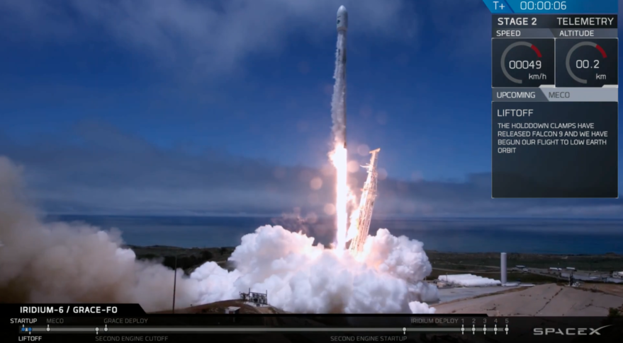 IRDM GRACE-FO Launch Falcon 9
