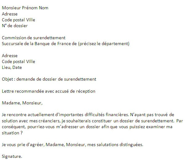letter of application  lettre explicative pour la banque