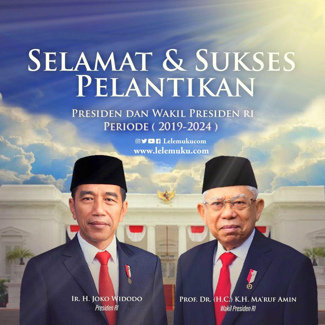Selamat dan Sukses Atas Pelantikan Presiden Jokowi dan Wapres Amin