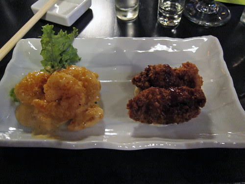 Shrimp Spicy Mayo and Fried Oyster