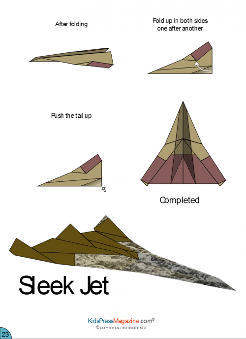 How To Make Paper Airplane - Best Paper Plane Origami Jet Fighter ... | 688x500