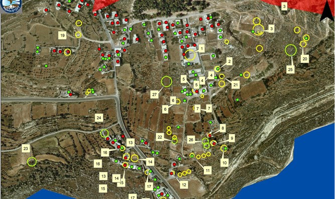 Illegal Arab building choking Efrat's northern approach