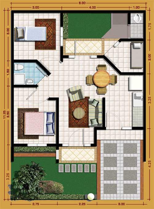 12 Desain  Rumah  Minimalis 3 Kamar Tidur Praktis  RUMAH  IMPIAN