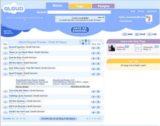 Music search tool with social networking features