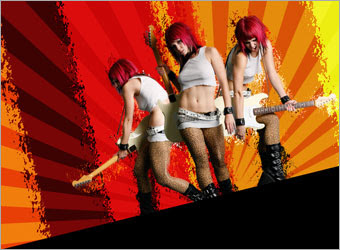 Creating a Grunge Rock Poster image 11