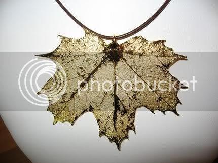 Maple Leaf Necklace - on blog