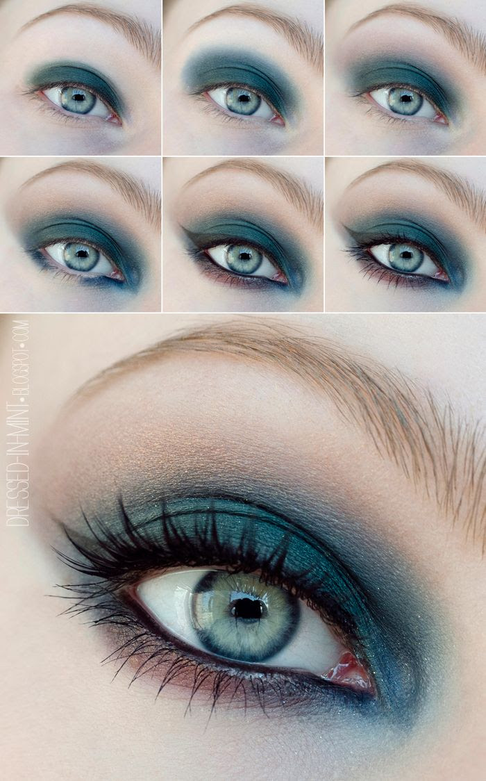 Dressed in Mint: make up. - Świąteczny + TUTORIAL