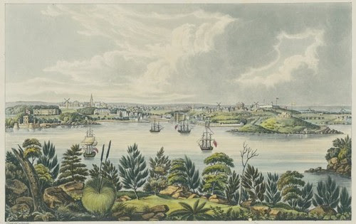 North view of Sydney, New South Wales 1825 (Joseph Lycett)
