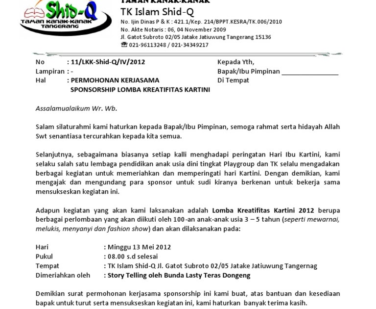 Contoh Proposal Lomba - Rasmi V