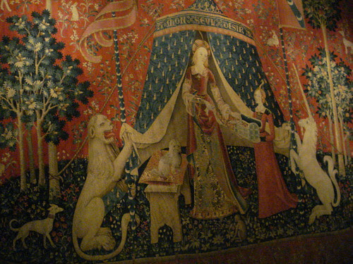 A mon sevl desir to my sole desire weaving tapestry natural dyes unicorn lady medieval middle ages