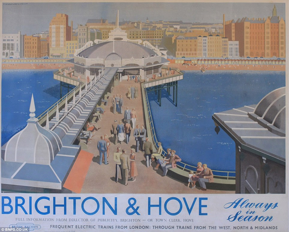 Visit Brighton & Hove: Each of the ten posters discovered by a property developer in a house in Edinburgh is expected to fetch upwards of £15,000 at auction