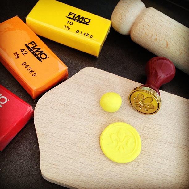 Using fimo to make a replica of wax seals
