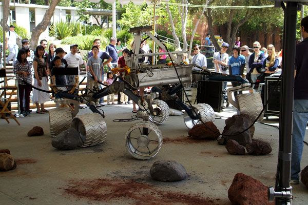 The CURIOSITY Mars Rover prototype, also known as SCARECROW.