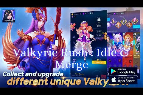 Valkyrie Rush - Idle Merge Game from com2us, Gameplay and APK