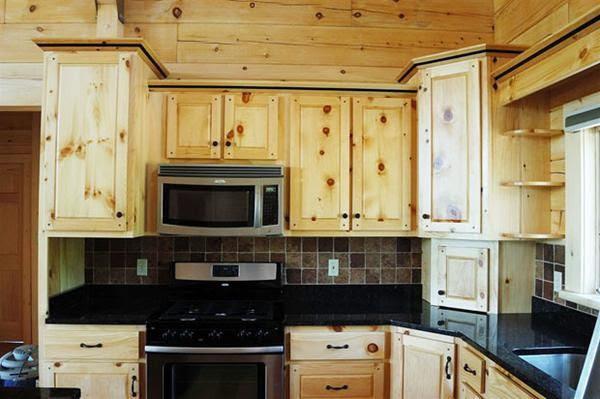 Kitchen Design With Lights Pine Kitchen Cabinets