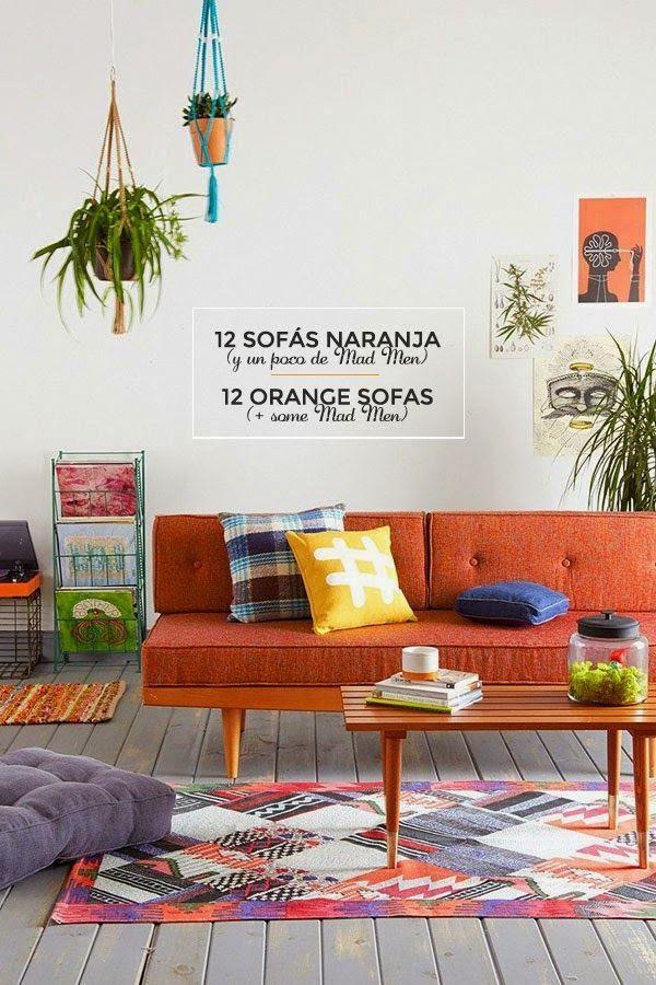 12 Ideas Para Combinar Un Sofa Naranja 12 Ideas To Combine Your