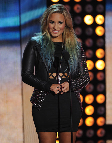 Demi Lovato Singer Demi Lovato speaks onstage during the 2012 Teen Choice Awards at Gibson Amphitheatre on July 22, 2012 in Universal City, California.