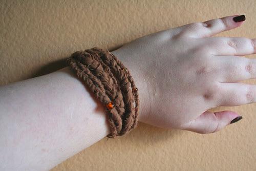 Upcycled Braided Bracelet