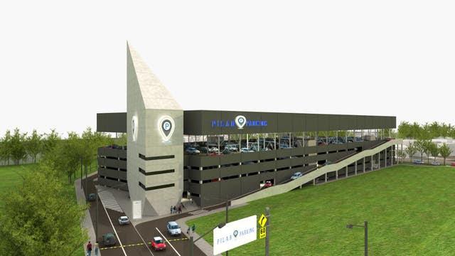 Imagen simulada del edificio que albergará las 920 cocheras del Centro de Transferencia